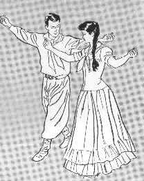 Pareja indio bailando en Algeciras